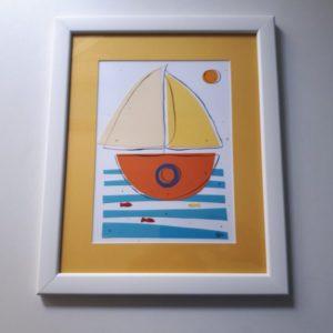 Ilustracija ŽUTI BROD