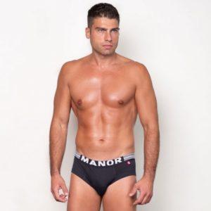 Manor underwear Basic Crni Slip