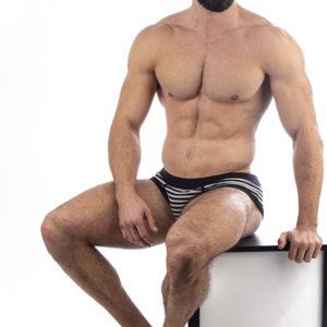 Manor underwear Stripes Dvobojno-Crni Slip