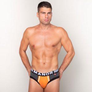 Manor underwear Orange Movement Sivi slip
