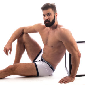 Manor underwear belo teget muške bokserice