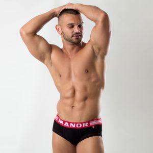Crno crveni muški slip Manor underwear 1
