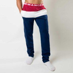 Crveno plava muška pidžama Manor underwear